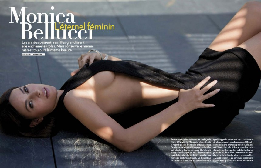 Image result for monica bellucci paris match